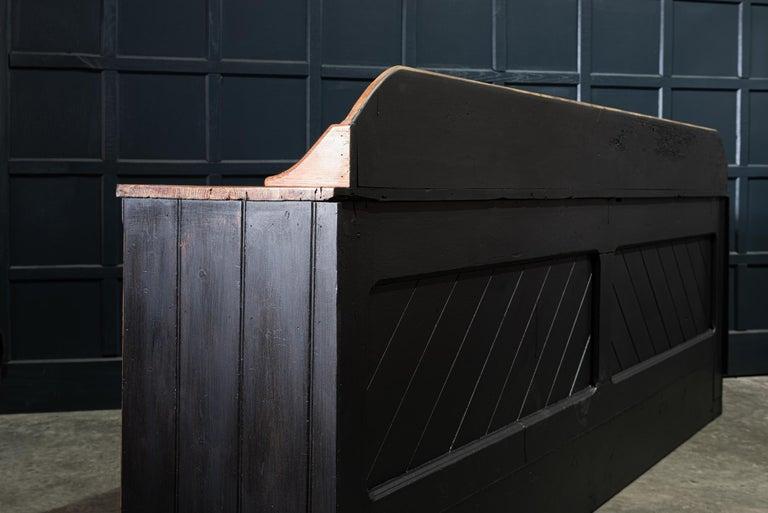 19th Century Ebonized Scottish Pine Counter Dresser Base/ Sideboard For Sale 1