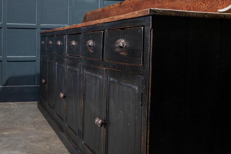 19th Century Ebonized Scottish Pine Counter Dresser Base/ Sideboard For Sale 3