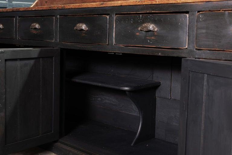 19th Century Ebonized Scottish Pine Counter Dresser Base/ Sideboard For Sale 4