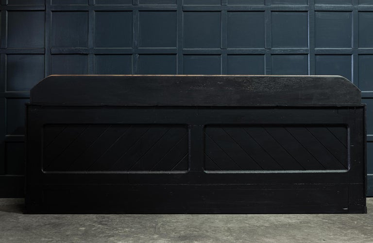 19th Century Ebonized Scottish Pine Counter Dresser Base/ Sideboard For Sale 5