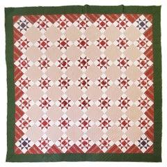 19thc Eight Point Star Quilt