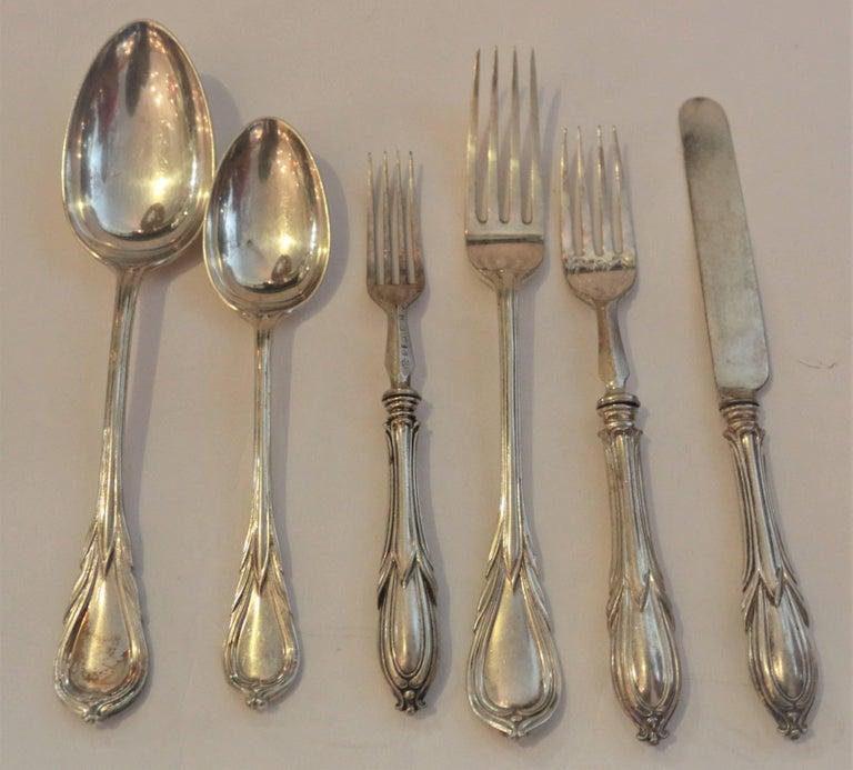 English 19th Century Elkington & Company 204-Piece Silver Set For Sale
