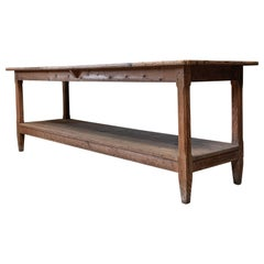 19th Century English Bakers Pine Prep Server Table