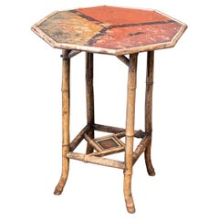 19th Century English Bamboo Side Table