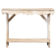 19thC English Country Painted Console Table