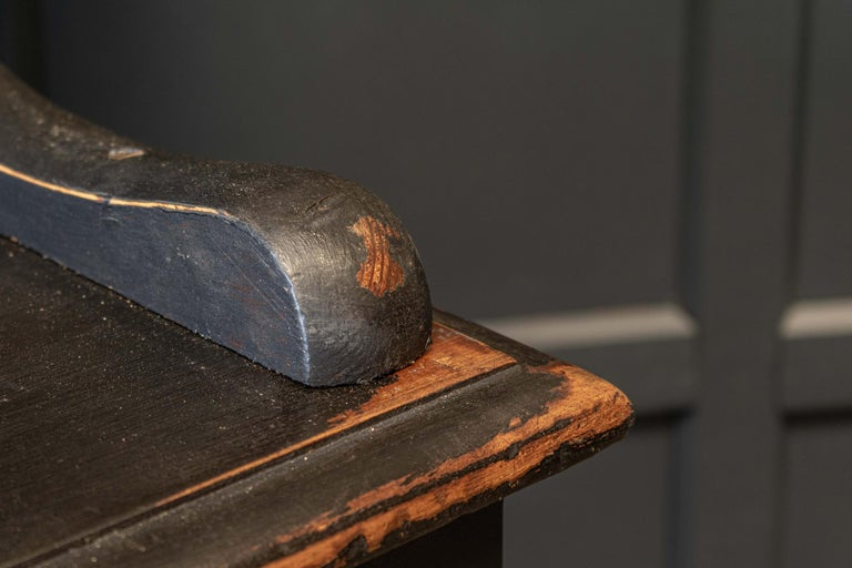 British 19thC English Ebonised Potboard Pine Dresser For Sale