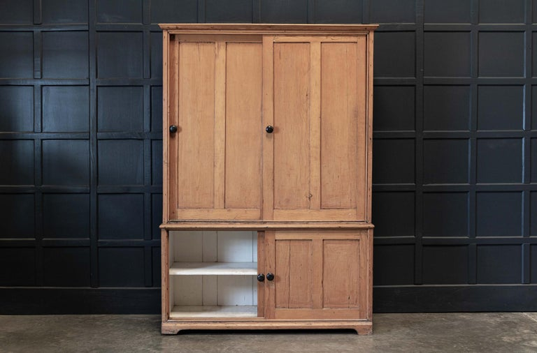 19thC English Large Pine Housekeepers Cupboard 2