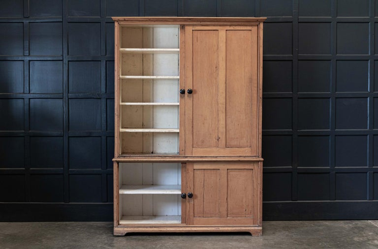 19thC English Large Pine Housekeepers Cupboard 3