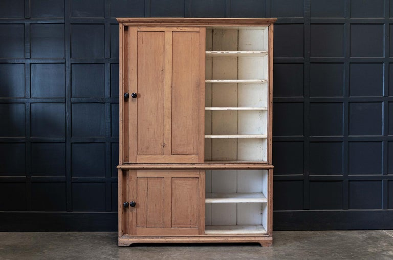 19thC English Large Pine Housekeepers Cupboard 4