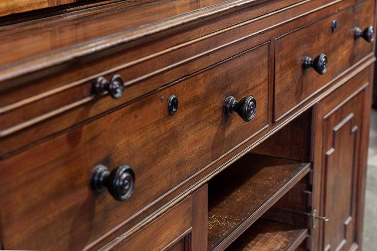 19th Century English Mahogany Glazed Secretaire Bookcase For Sale 2