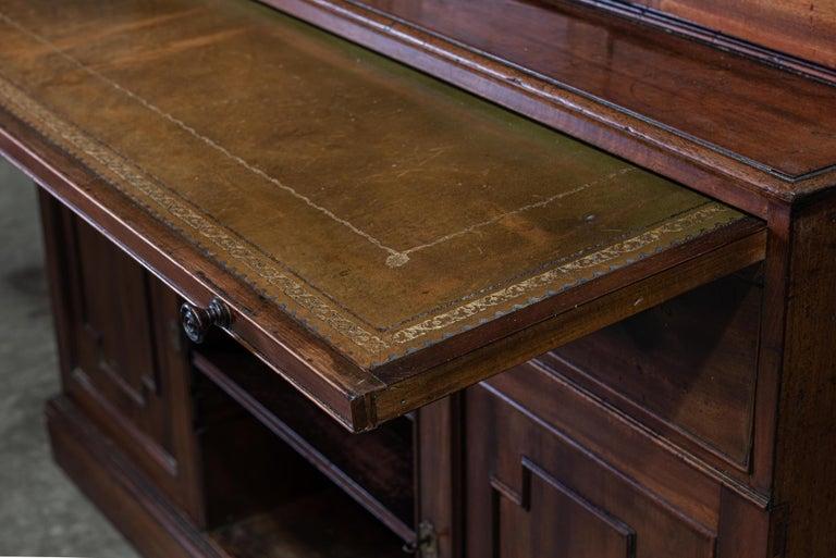 19th Century English Mahogany Glazed Secretaire Bookcase For Sale 6
