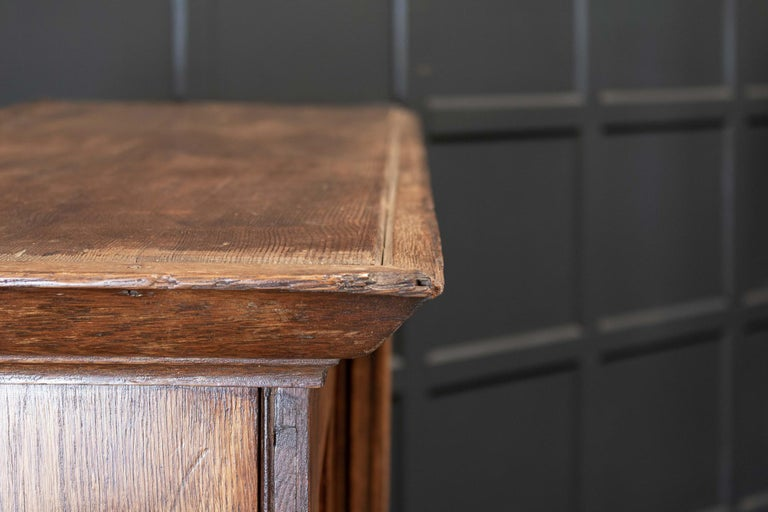 19thC English Oak Panelled Cupboard For Sale 5
