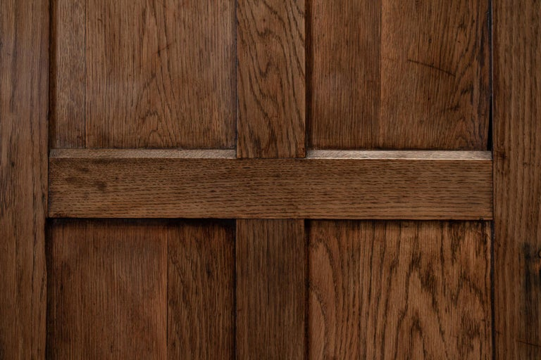 19thC English Oak Panelled Cupboard For Sale 2