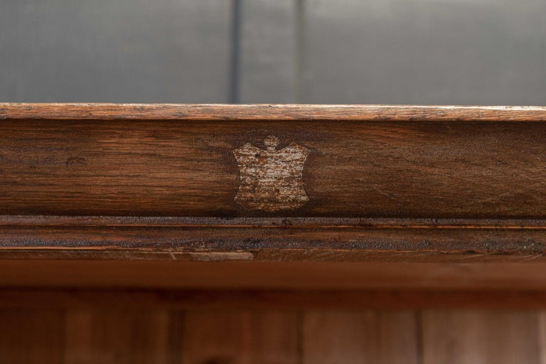 19thC English Oak Panelled Cupboard For Sale 3