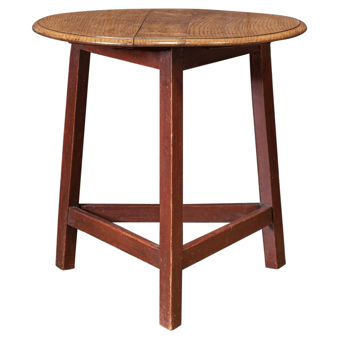 19th C English Painted Ash Cricket Table