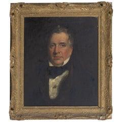 19th Century English School Oil on Board Portrait of a Gentleman, circa 1870