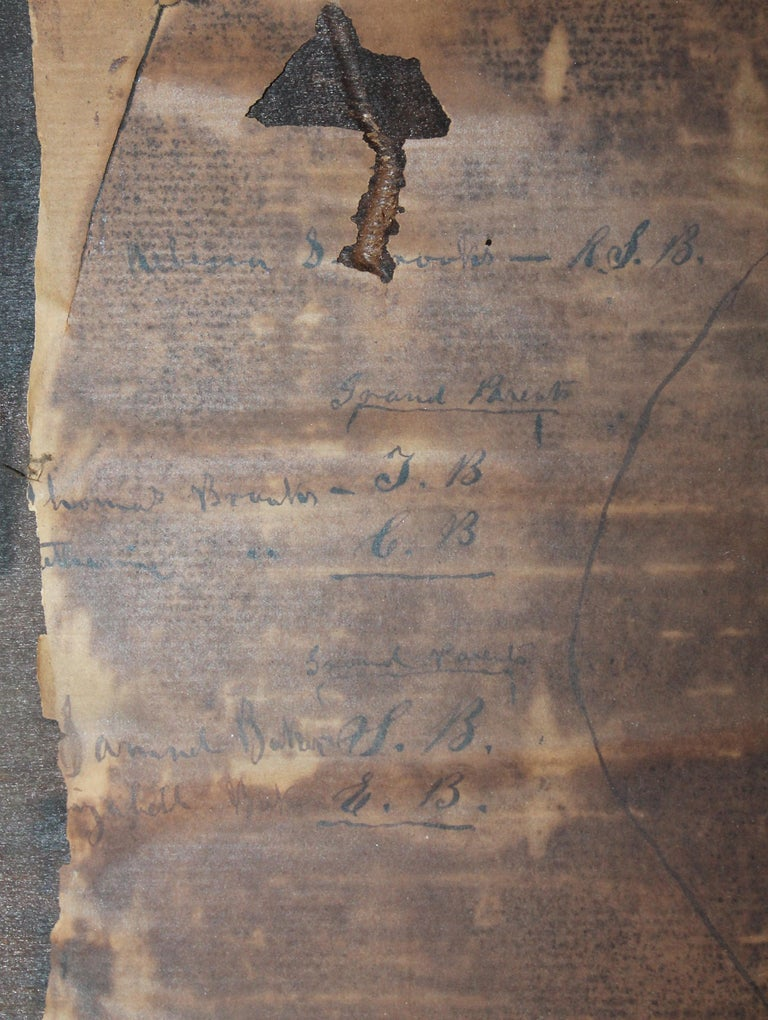 19th Century Extract Family Tree 'Anna Brooks, Philadelphia, 1818' For Sale 1