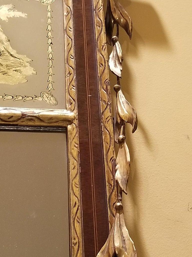 19th Century Federal Style Mirror with Gilt Detail & Églomisé For Sale 4