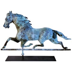 19Thc Fiske Full Body Horse Weather Vane