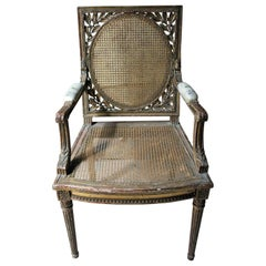 19th Century French Carved Giltwood Open Armchair, circa 1880