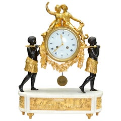 "19th Century French Louis XVI Style Allegorical Clock of ""Paul and Virginie"""
