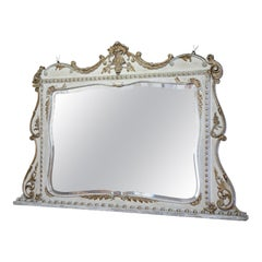 19th Century French Mirror with Original Paintwork and Gilding