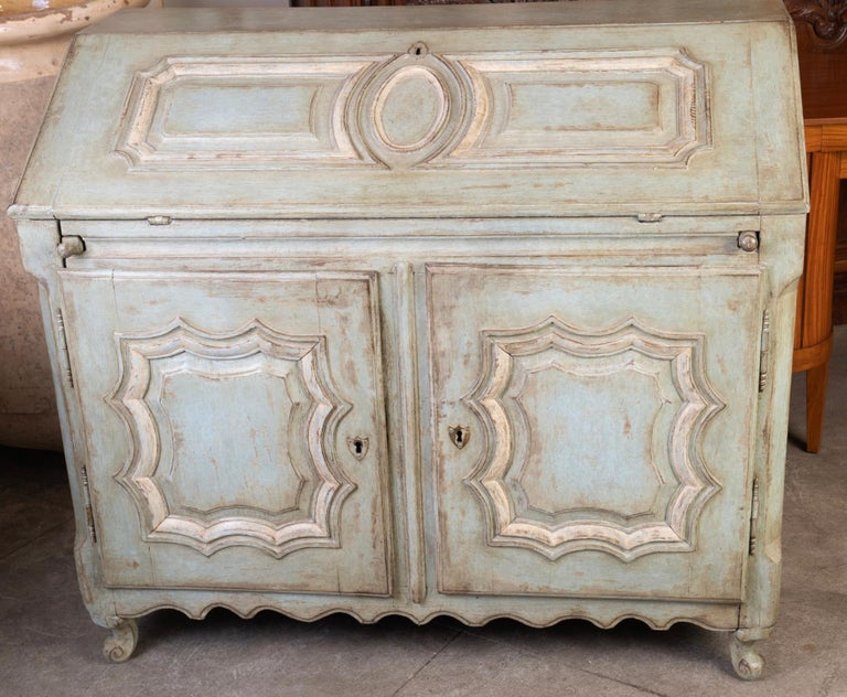 19thc French Painted Secretary For Sale 4