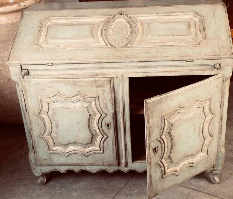 19thc French Painted Secretary For Sale 3