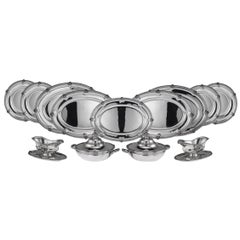 French Solid Silver Large Dinner Service, Mon Odiot, Paris, circa 1890