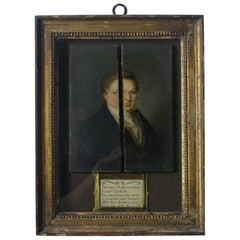 19th Century Georgian Gent Robert Norman Oil on Board, Rescued from the Ruins