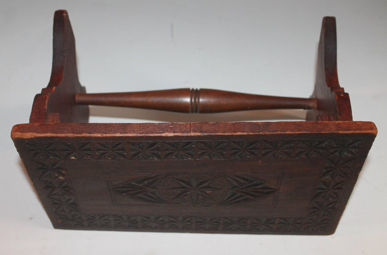 19th Century Hand Carved Foot Stool In Good Condition For Sale In Los Angeles, CA