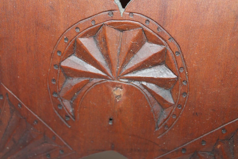 19th Century Hand Carved Foot Stool For Sale 1