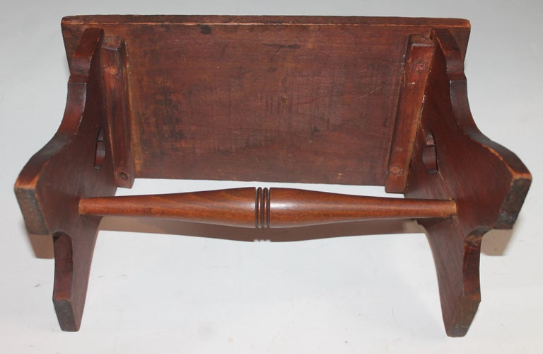 19th Century Hand Carved Foot Stool For Sale 2