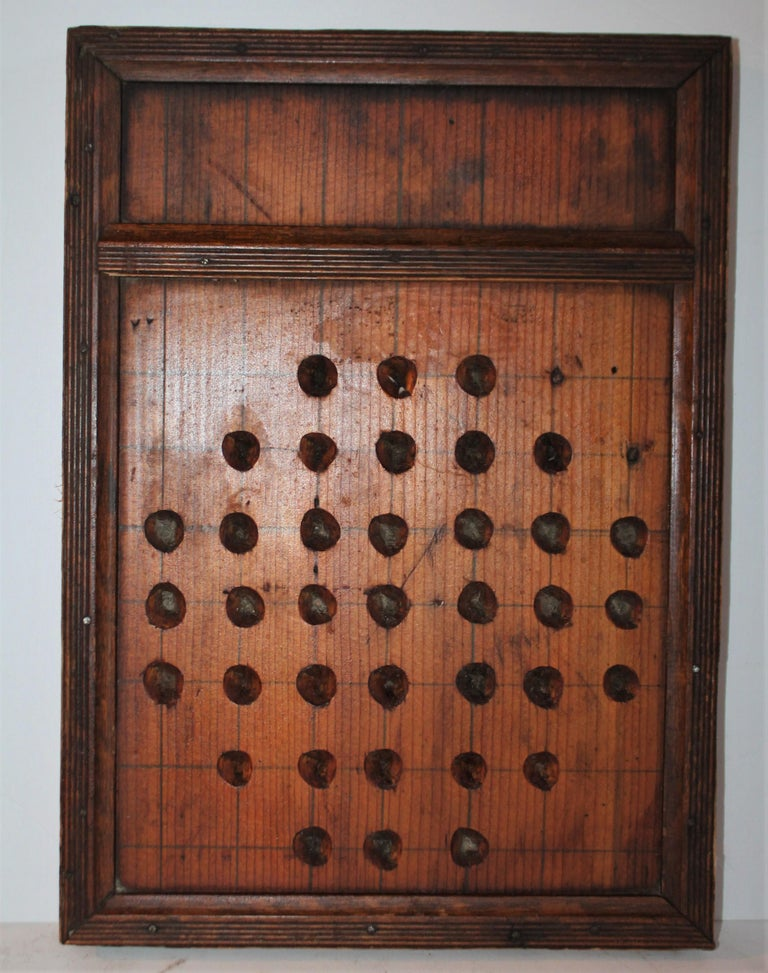 Adirondack 19th Century Hand Carved Marble Game Board For Sale