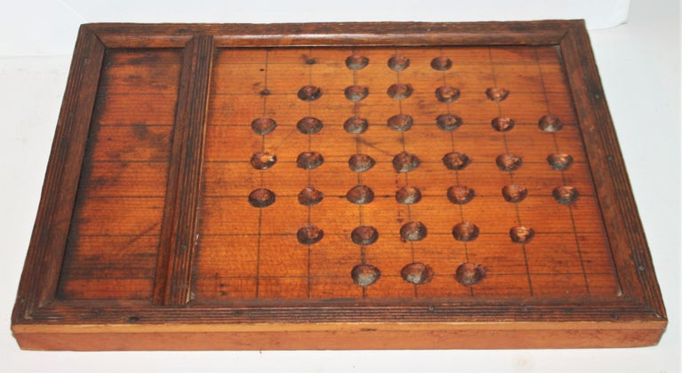 American 19th Century Hand Carved Marble Game Board For Sale