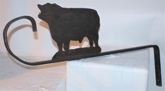 19Thc Hand Crafted Iron  Cattle Trade Sign
