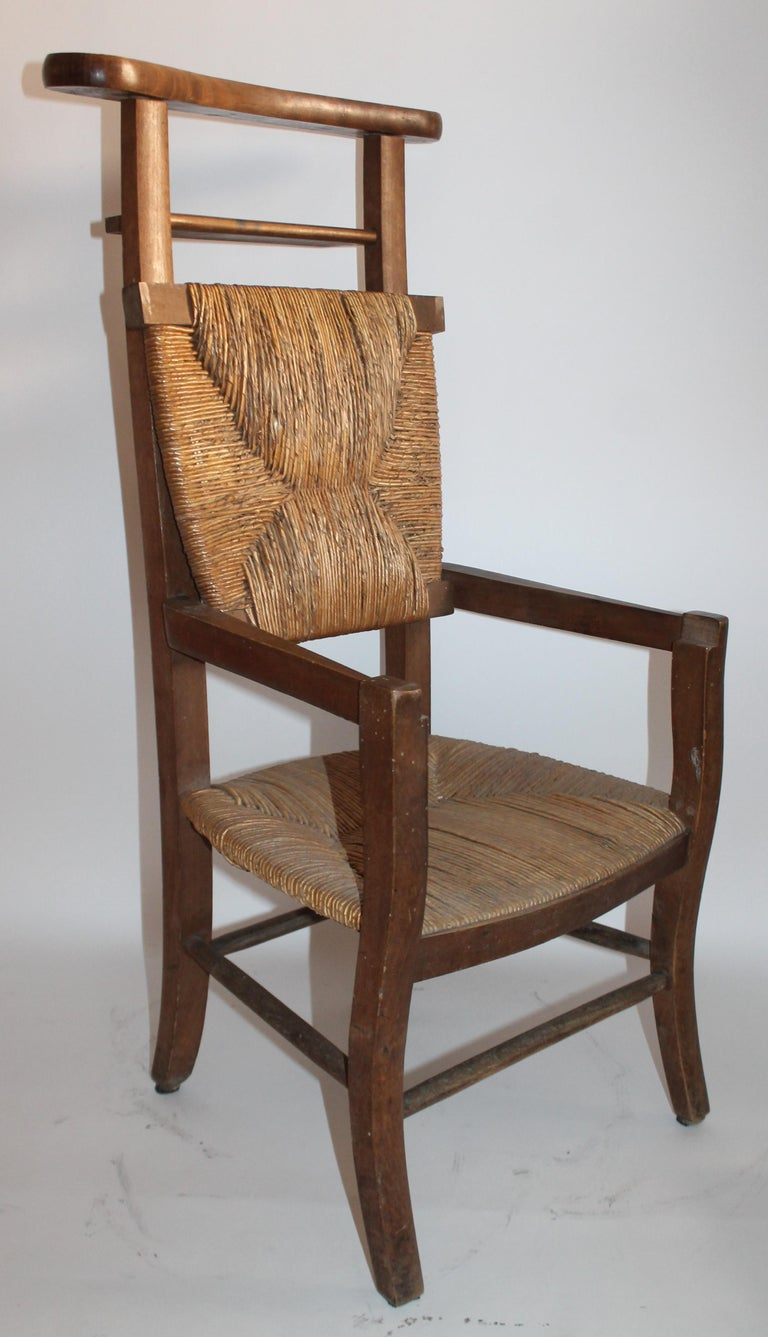 American 19th Century High Chair with Lift Top Seat For Sale