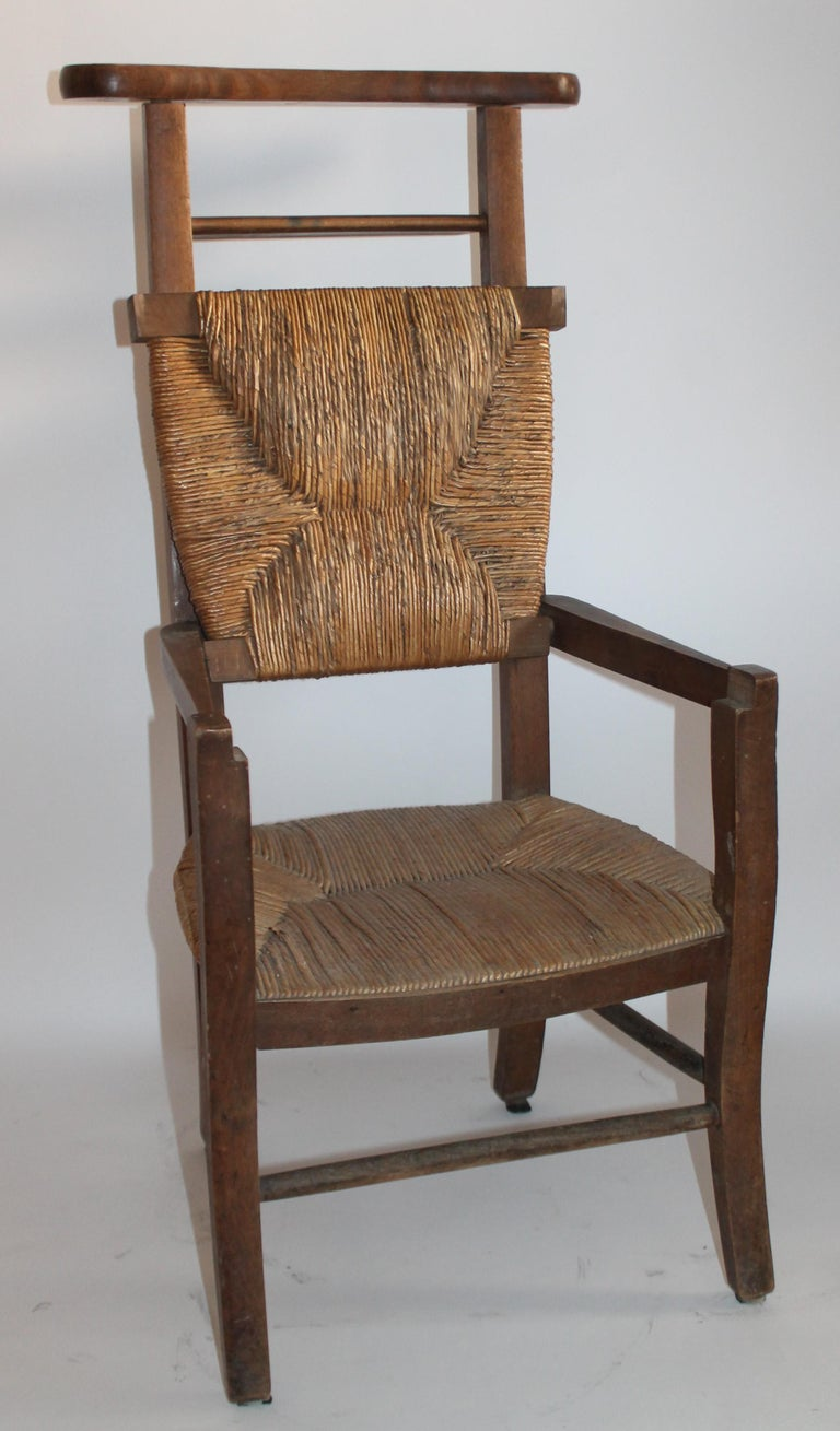 19th Century High Chair with Lift Top Seat In Good Condition For Sale In Los Angeles, CA