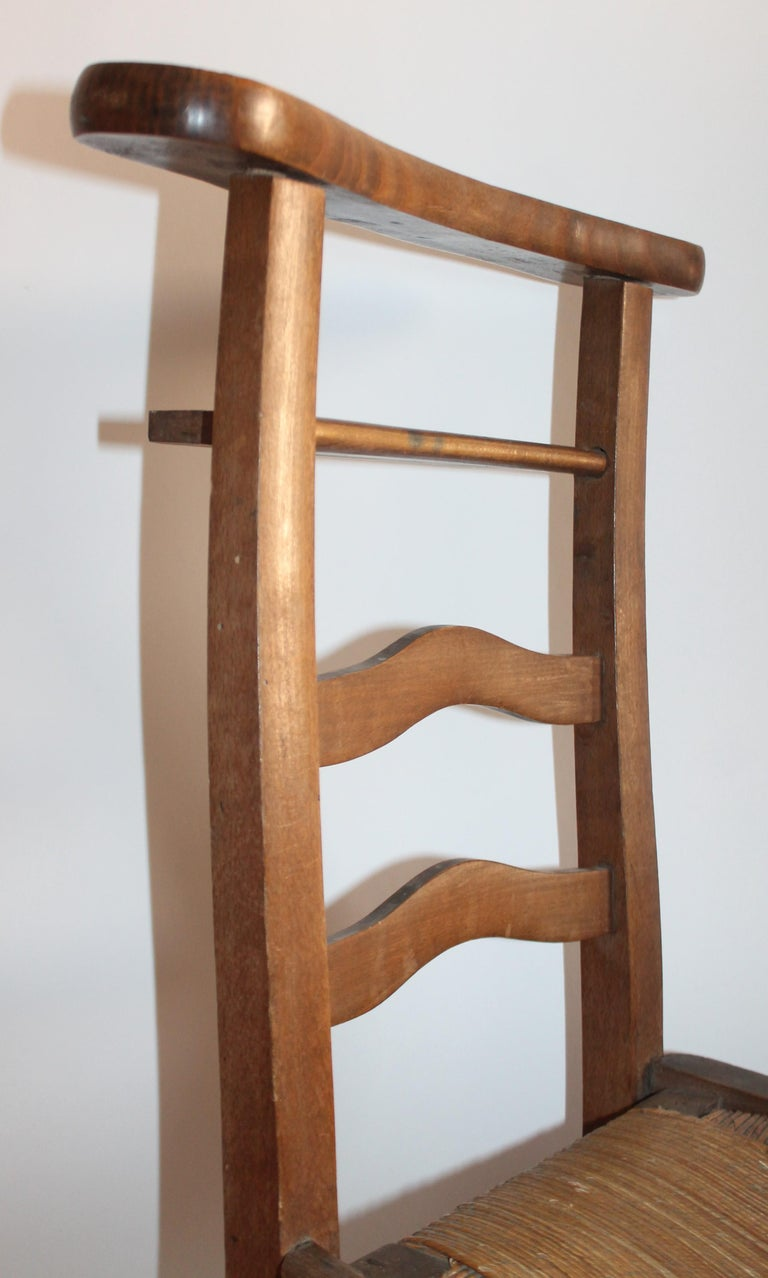 Wood 19th Century High Chair with Lift Top Seat For Sale