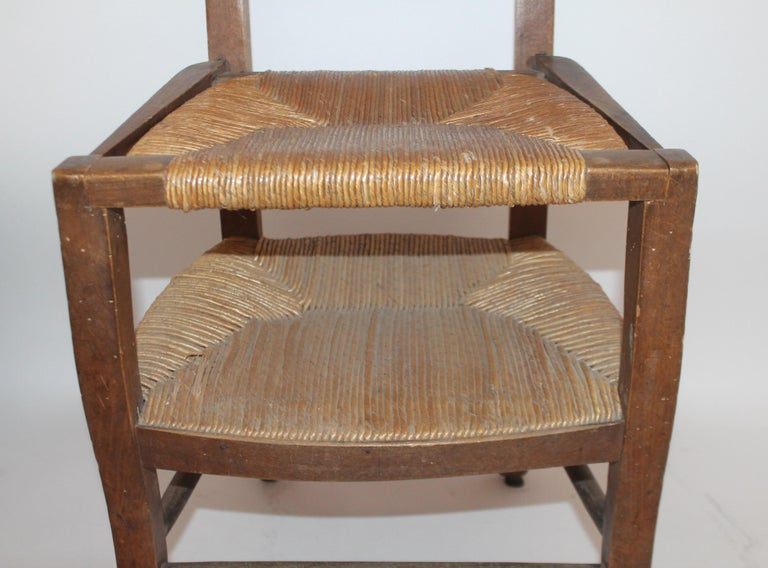 19th Century High Chair with Lift Top Seat For Sale 2