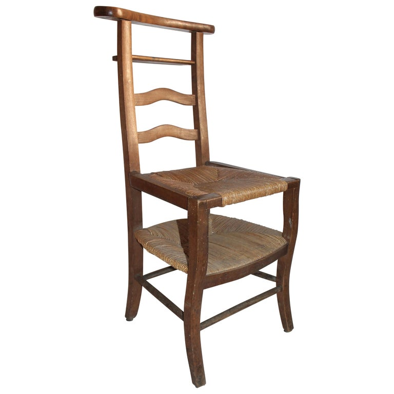 19th Century High Chair with Lift Top Seat For Sale