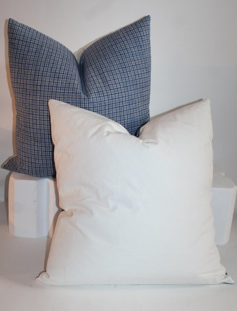 American 19th Century Homespun Linen  Pillows, Pair For Sale