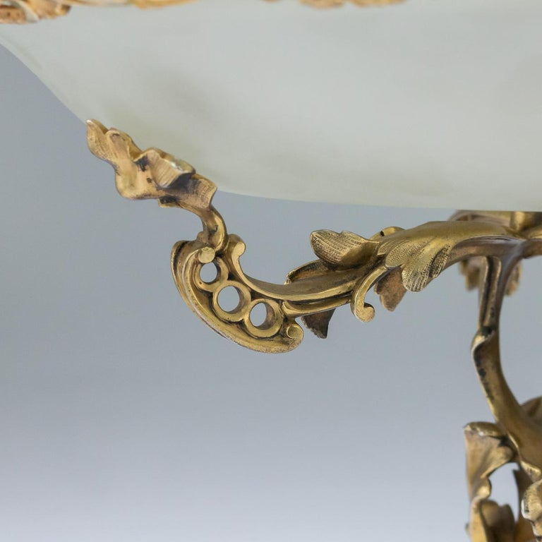 Imperial Russian Silver Gilt and Glass Pair of Tazza, Sazikov, circa 1867 3