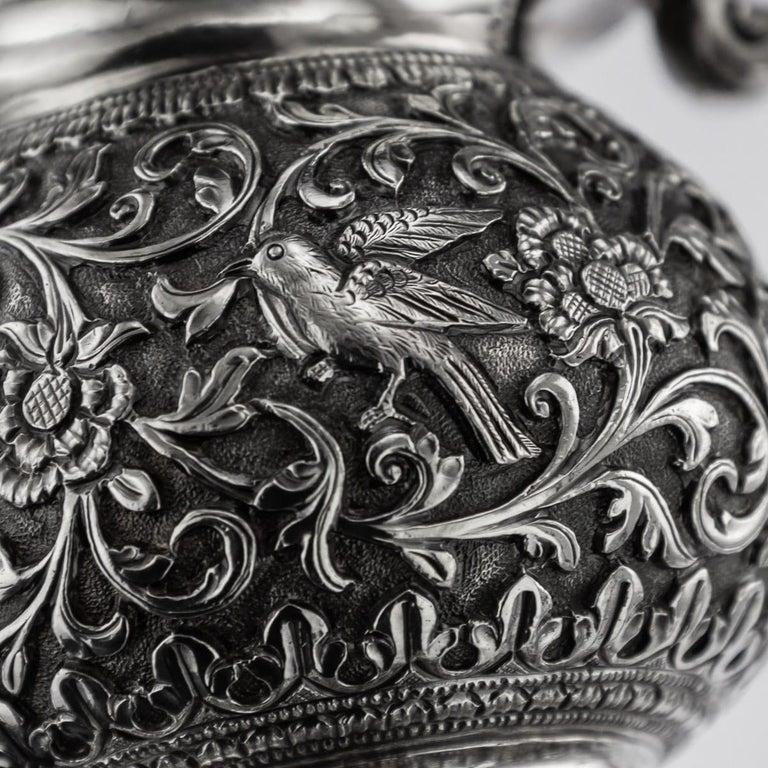 19th Century Indian Cutch Solid Silver Condiment Set, Oomersi Mawji, circa 1890 For Sale 14