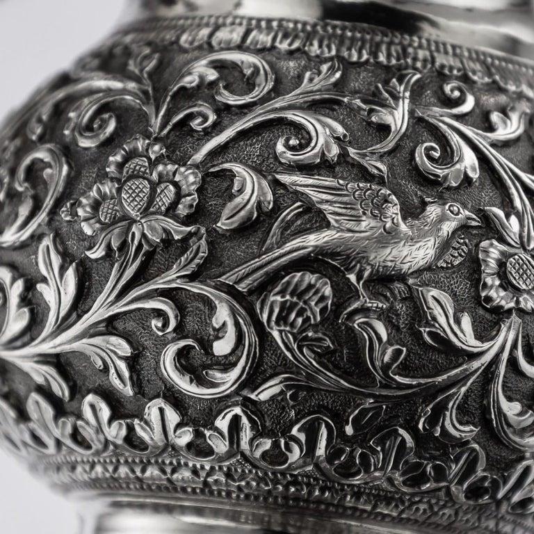 19th Century Indian Cutch Solid Silver Condiment Set, Oomersi Mawji, circa 1890 For Sale 16