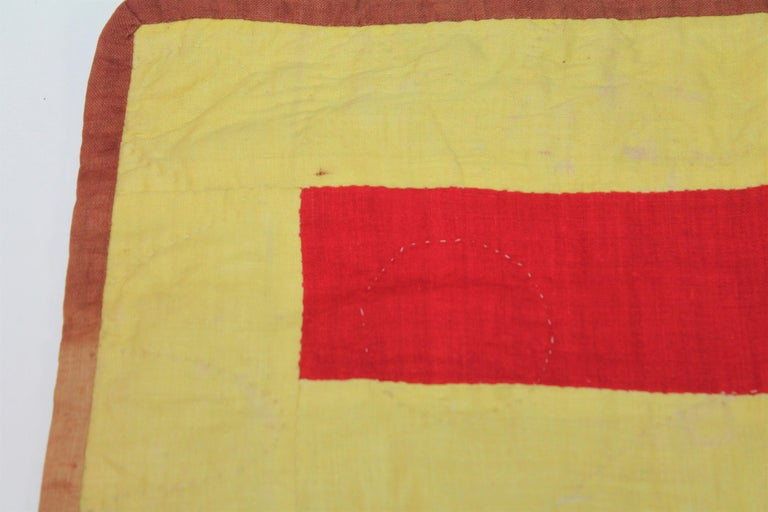 American 19th Century Lancaster County Bars Doll Quilt For Sale