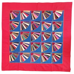 19th C Lancaster County, Pennsylvania Wool Fans Quilt