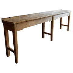 19th Century Large English Butchers Bench Work Table