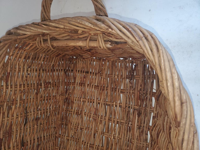 Country 19th Century Large French Bread Basket from a Bakery For Sale