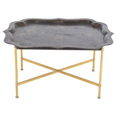 19thC Large Regency Chinoiserie Toleware Tray Table